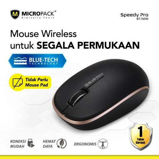 Mouse Wireless Micropack BT-760W
